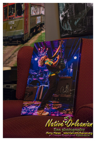 "Just dropped off my donation for this years INSTRUMENTS A COMIN 2014 Silent Auction at the Tipitinas Foundation Office. The piece is a 16x24 Limited Edition (#6/50), Personally Autographed Museum Wrapped Canvas of my man Anders Osborne performing at his Holiday Spectacular in 2012 . ""The proceeds from this event are used to purchase new musical instruments for New Orleans area public, charter and parochial schools. Tipitina's annual benefit concert and community festival, the biggest musical event of our year, is all about increasing student participation in music education programs. Now in its thirteenth year, the Instruments A Comin' program has provided more than $2.7 million worth of musical instruments to more than 80 Louisiana schools and after-school music programs."" More information about the lin-up, which includes Anders Osborne, and more can be found at <a target=""_blank"" href=""http://www.tipitinas.com/events/instruments-comin-2014"">http://www.tipitinas.com/events/instruments-comin-2014</a> We gonna keep them Instrument's a Comin!!!! See ya'll there!! Jerry ;-)"