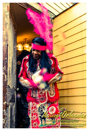 monk_boudreaux_mardi_gras_jm_030414_018Another Mardi Gras in the books with Big Chief Monk Boudreaux and friends. Eventually we all made it out into the streets and headed to Second and Dryades......some things just can't be stopped......may post some more later, but now gotta get ready to head to Kingston , Jamaica tomorrow with Monk and Rueben where I'll be documenting the studio recording Monk's next CD..........Enjoy the pics, Jerry! ;-) A musical slideshow and more pics can be seen at http://www.nativeorleanian.org/mardi_gras_big_chief_monk_boudreaux_3_4_14<br/> ©2005-2014 Jerry Moran Native Orleanian LLC