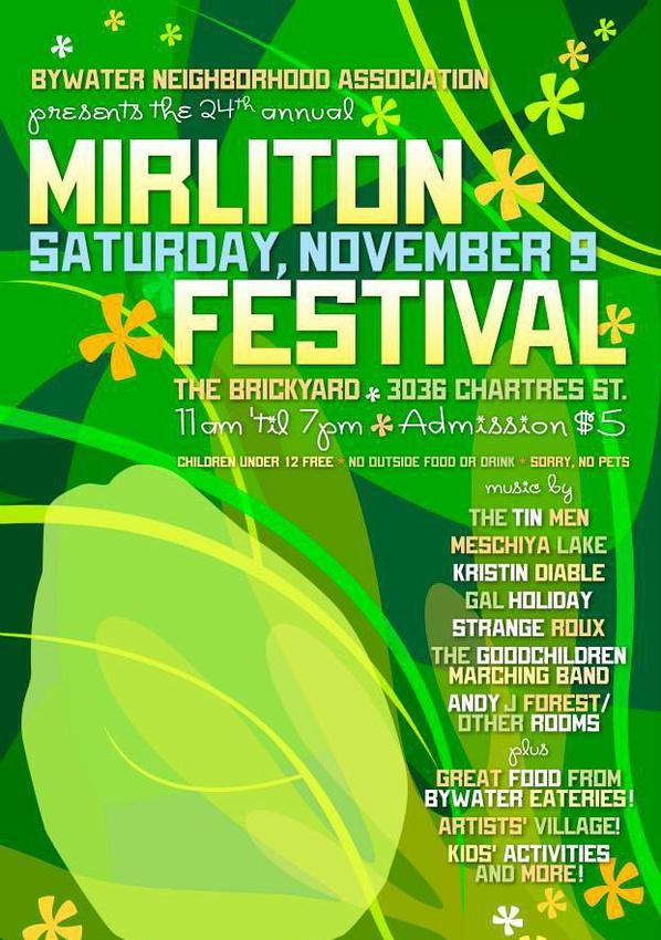 Mirliton Fest Flier