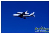 The final fly over of Space Shuttle Endeavor
