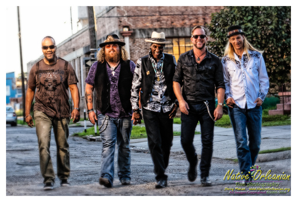 "royal_southern_brotherhood_promo_shoot_jm_101414_003A couple of weeks ago post VOW Fest I spent the greater part of the day with my compadres Cyril Neville, Devon Allman, Yonrico Scott, Charlie Wooten and new guitarist Bart Walker...aka The Royal Southern Brotherhood over at NOLA Recording Studio where they were writing/recording some cuts for their new album to be recorded in early 2015. This session reminded me of the ones before RSB's debut self titled CD, which were also held at NOLA Recording Studio, and ultimately recorded at Dockside Studios where over the 3 days I spent there was able to witness the undeniable creative chemistry between the band first hand......something I will never forget.....and oh yeah, I was there to do the marketing and CD photo shoots too ..........Even with guitarist and good friend Mike Zito stepping away from RSB to concentrate on his solo career with his band Mike Zito & The Wheel in support of his upcoming release SONGS FROM THE ROAD - Live in Texas (CD/DVD)Ruf Records, Guitarist Bart Walker, whose pedigree includes playing with Stevie Ray Vaughan's original back-up band Double Trouble and until recently had Double Trouble keyboarder Reese Wynans as a regular member of his own touring outfit, along with collaborating in studio with the likes of The Black Crowes and Lynyrd Skynyrd , has stepped in making the transition seamless.....This was no surprise to me after seeing Bart play with RSB in Nashville a few years ago at 3rd and Lindsley while I was on the road with the band for a half dozen or so shows. The updated lineup of RSB sounded fantastic at the 2014 Voice of the Wetlands Festival, and from hearing a few new tracks being worked out at NOLA Recording Studio last week, led by the ""Uptown Ruler"" Cyril Neville, RSB's follow up to the ""HEARTSOULBLOOD"" release will potentially be their best......and the first 2 were pretty damn good! Can't wait till they get in the studio in early 2015. In the mean time we were able to rattle off a few ""under the gun"" shots for marketing RSB and some solo shots of Devon Allman in support of his latest release ""Ragged and Dirty"" which was recently reviewed in Relix Magazine......Enjoy the pics!! Jerry ;-) More pics and a musical slideshow can be seen at <a target=""_blank"" href=""http://www.nativeorleanian.org/royal_southern_brotherhood_photo_shoot_october_14th_2014"">http://www.nativeorleanian.org/royal_southern_brotherhood_photo_shoot_october_14th_2014</a> All Rights Reserved ©2005-2014 Jerry Moran Native Orleanian LLC All Rights Reserved 2005-2014 Jerry Moran Native Orleanian LLC"