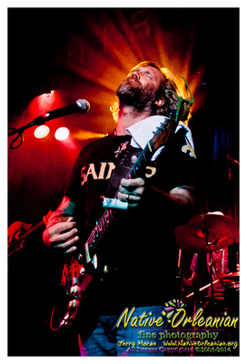 Anders Osborne performing with the Voice of the Wetlands Allstars at Hiro Ballroom NY,NY. Photo by Jerry Moran Native Orleanian Fine Photography