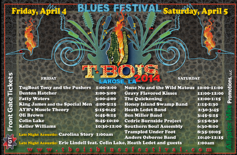 T-Bois Blues Fest 2014 Schedule